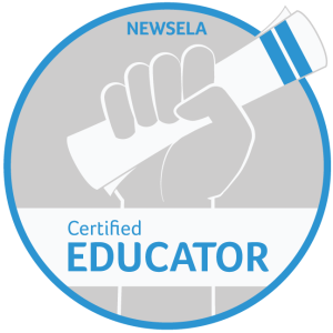 Newsela Certified Educator badge