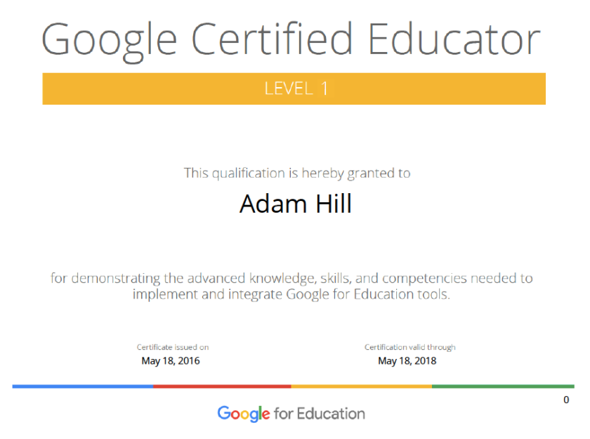 My journey to Google Certified Educator – Mr. Hill\'s Musings