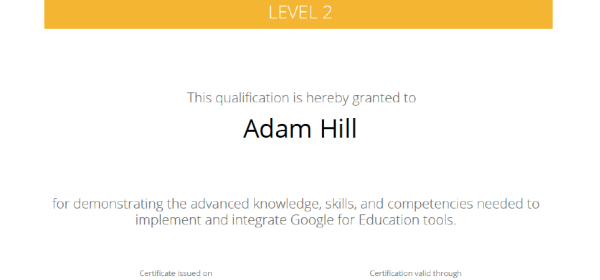 Google Certified Educator – Mr. Hill\'s Musings