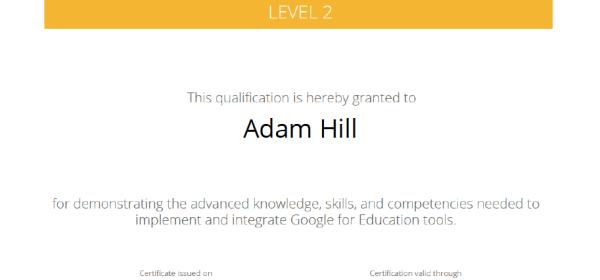 Google Certified Educator – Mr. Hill\'s Musings