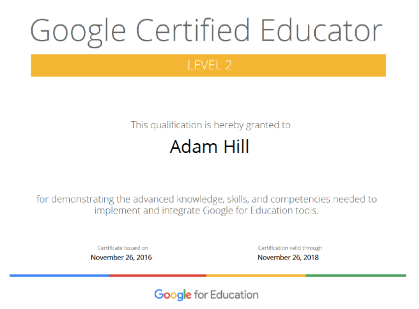 Google Certified Educator Level 2 The Journey Continues Mr