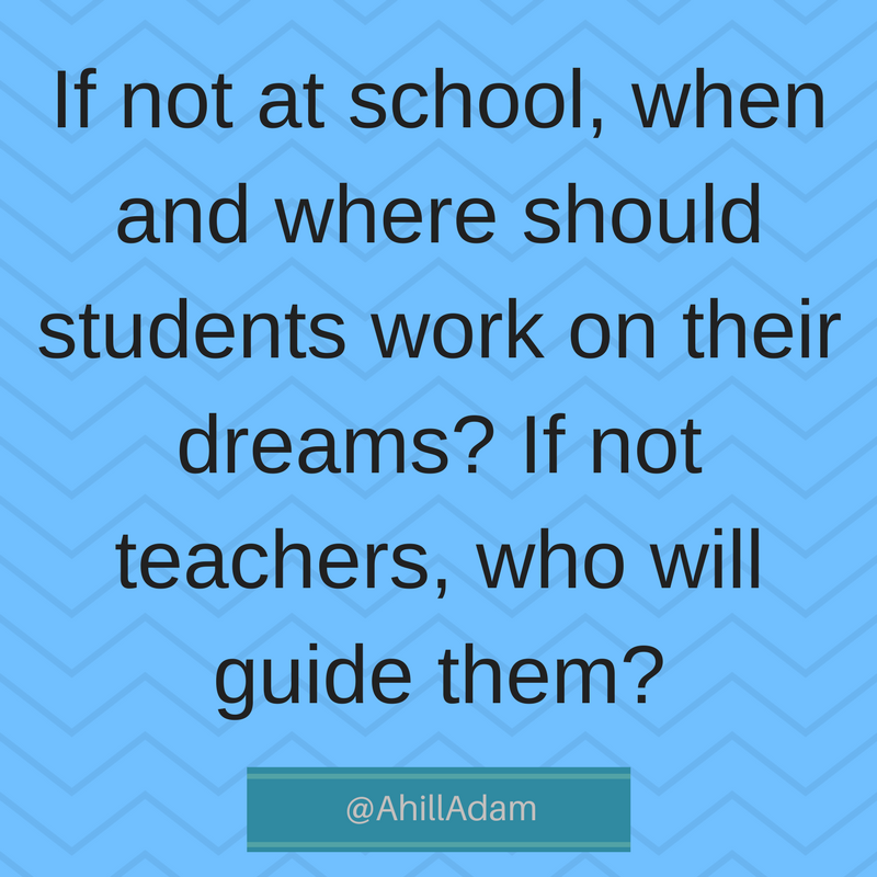 How many of your former students left your class without advancing towards their dreams-